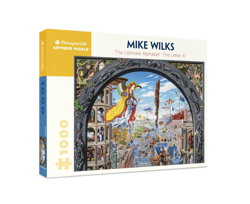 Wilks: The Ultimate Alphabet: The Letter A - 1000pc Jigsaw Puzzle by Pomegranate