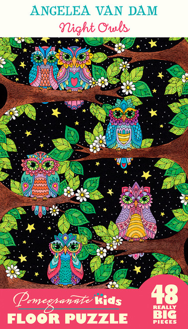 Night Owls - 48pc Floor Jigsaw Puzzle by Pomegranate