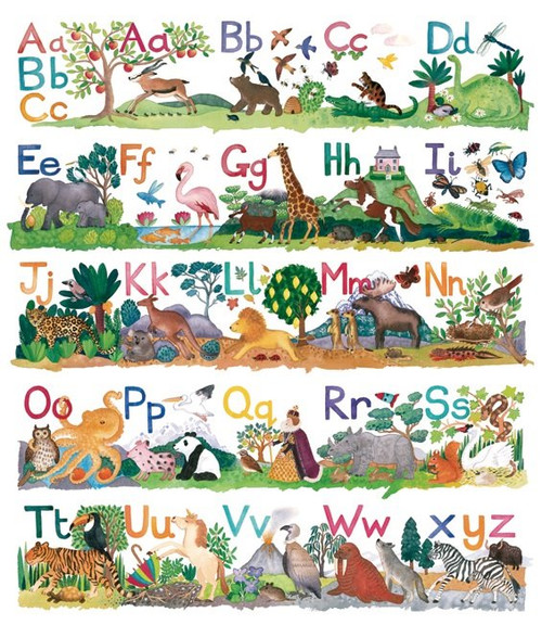 Winteringham: Alphabet - 300pc Jigsaw Puzzle by Pomegranate