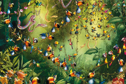 Ruyer: Toucans - 1000pc Jigsaw Puzzle by Piatnik