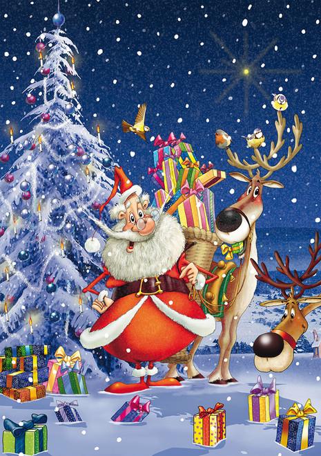 Happy Santa - 1000pc Jigsaw Puzzle by Piatnik
