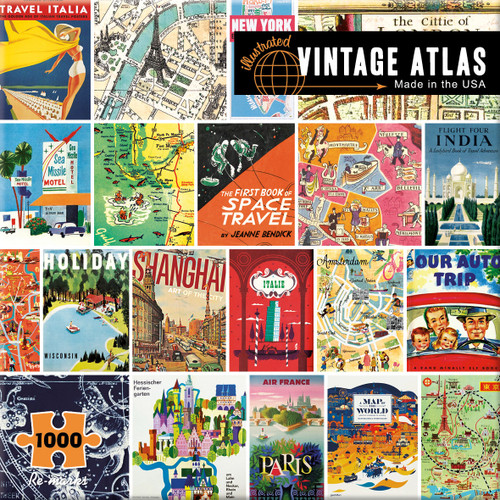 Vintage Atlas - 1000pc Jigsaw Puzzle By Re-marks