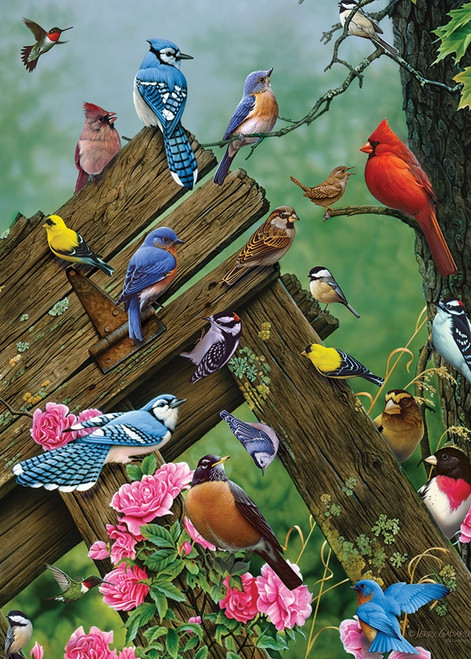 Wildbird Gathering - 35pc Tray Puzzle by Cobble Hill