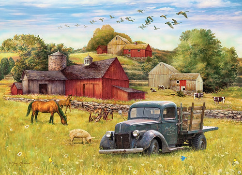 Blue Truck Farm - 35pc Tray Puzzle by Cobble Hill