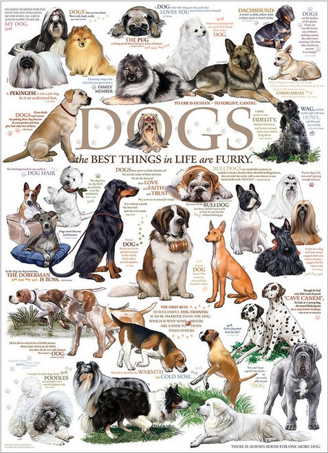 Dog Quotes - 1000pc Jigsaw Puzzle by Cobble Hill