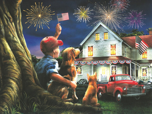God Bless the USA - 300pc Large Format Jigsaw Puzzle by SunsOut