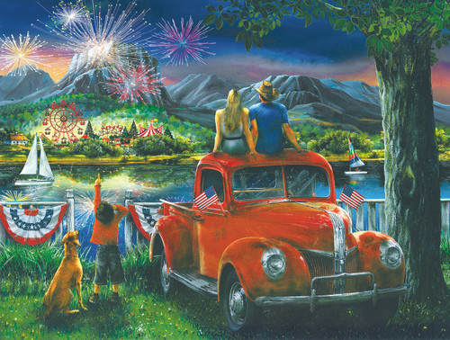 Celebration Across the River - 300pc Large Format Jigsaw Puzzle by SunsOut