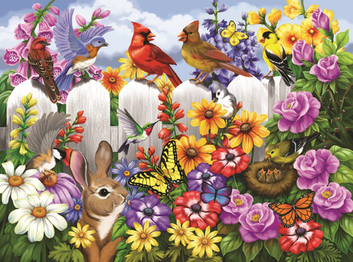 Garden Gossip - 300pc Large Format Jigsaw Puzzle by SunsOut