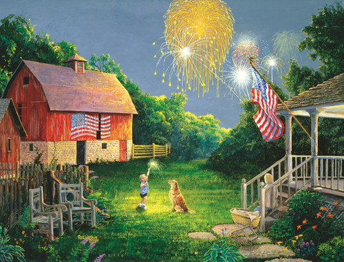 July Celebration - 300pc Large Format Jigsaw Puzzle by SunsOut
