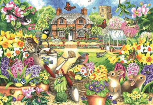 Spring Garden - 1000pc Jigsaw Puzzle By Falcon