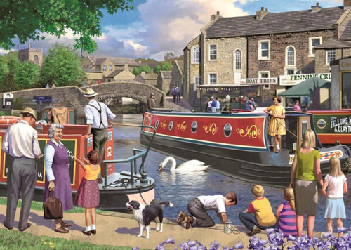 Sunday on the Canal - 1000pc Jigsaw Puzzle By Falcon
