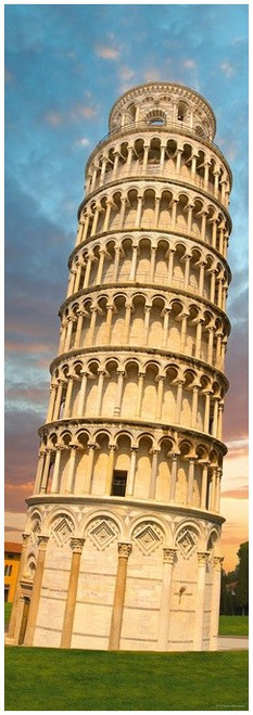 Tower of Pisa - 1000pc Vertical Jigsaw Puzzle By Heye