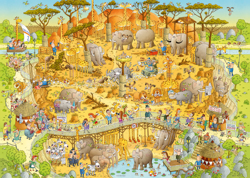 African Habitat - 1000pc Jigsaw Puzzle By Heye