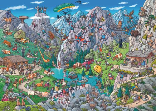 Tanck: Alpine Fun - 1000pc Jigsaw Puzzle By Heye