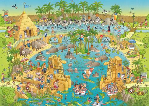 Nile Habitat - 1000pc Jigsaw Puzzle By Heye
