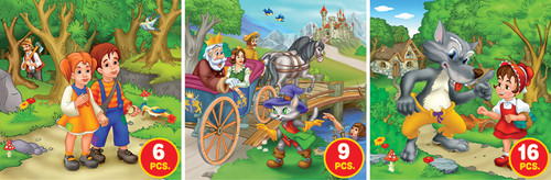 Fairy Tales, Series 2 - 6pc, 9pc, 16pc Jigsaw Puzzle by D-Toys