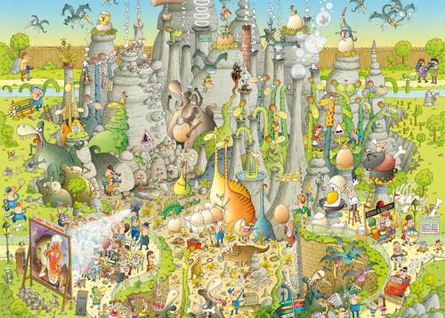 Jurassic Habitat - 1000pc Jigsaw Puzzle By Heye
