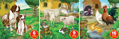 Farm Life, Series 1 - 6pc, 9pc, 16pc Jigsaw Puzzle by D-Toys