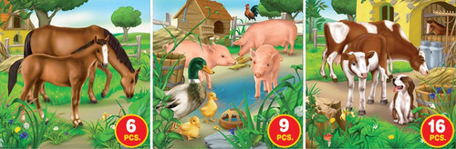 Farm Life, Series 2 - 6pc, 9pc, 16pc Jigsaw Puzzle by D-Toys