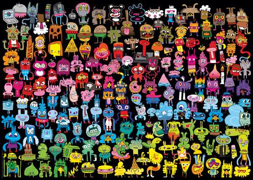 Doodle Rainbow - 1000pc Jigsaw Puzzle By Heye
