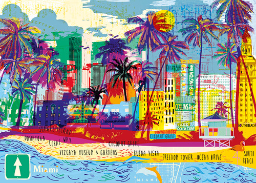 I Love Miami! - 1000pc Jigsaw Puzzle By Heye