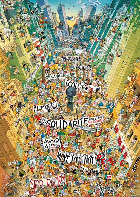 Degano: Protest! - 2000pc Jigsaw Puzzle By Heye
