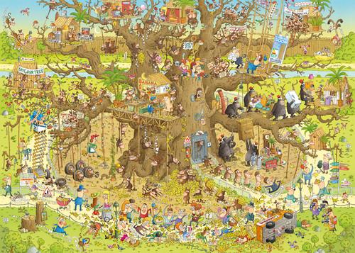 Monkey Habitat - 1000pc Jigsaw Puzzle By Heye