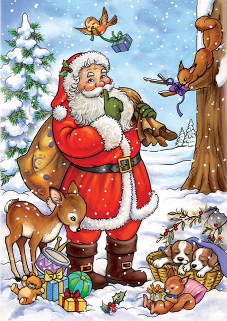 Santa Tells a Secret - 24pc Jigsaw Puzzle by D-Toys