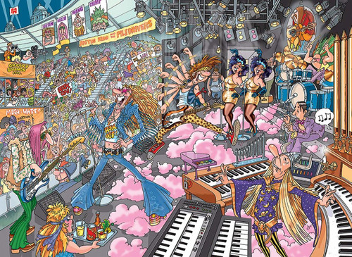 WASGIJ: Destiny 16, Old Time Rockers! - 1000pc Jigsaw Puzzle By Jumbo