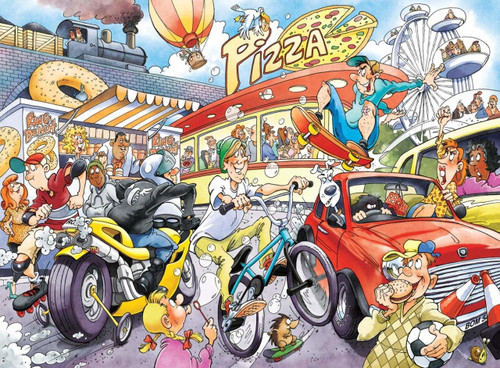 WASGIJ: Imagine 2, If the Wheel Had Not Been Invented! - 1000pc Jigsaw Puzzle By Jumbo