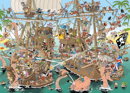 Pieces of History: Pirates - 1000pc Jigsaw Puzzle By Jumbo