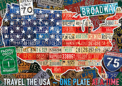 Travel the USA - 300pc Large Format Jigsaw Puzzle By Buffalo Games