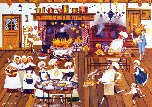 Charles Wysocki: Singing Piemakers - 300pc Large Format Jigsaw Puzzle by Buffalo Games