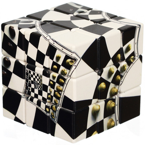 3 x 3 Chessboard Illusion Puzzle Cube by V-CUBE