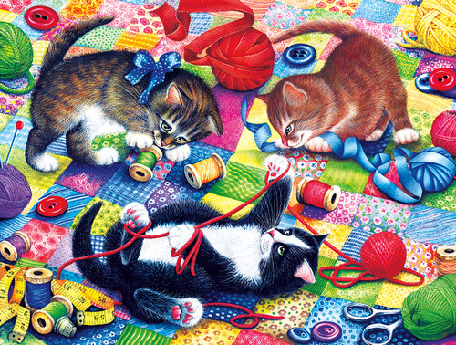 Knitting Kittens - 750pc Jigsaw Puzzle by Buffalo Games