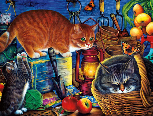Potting Shed Cats - 750pc Jigsaw Puzzle by Buffalo Games