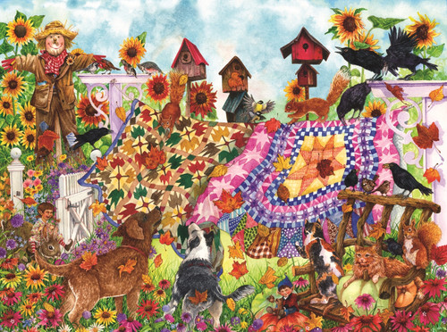 Autumn Garden Quilts - 1000pc Jigsaw Puzzle By Sunsout