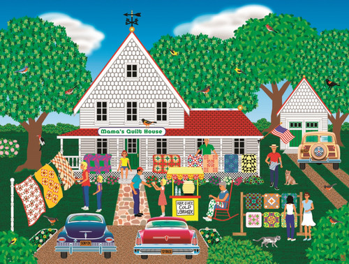 Mama's Quilt House - 1000pc Jigsaw Puzzle By Sunsout