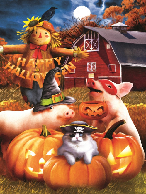 Happy Halloween - 500pc Jigsaw Puzzle By Sunsout