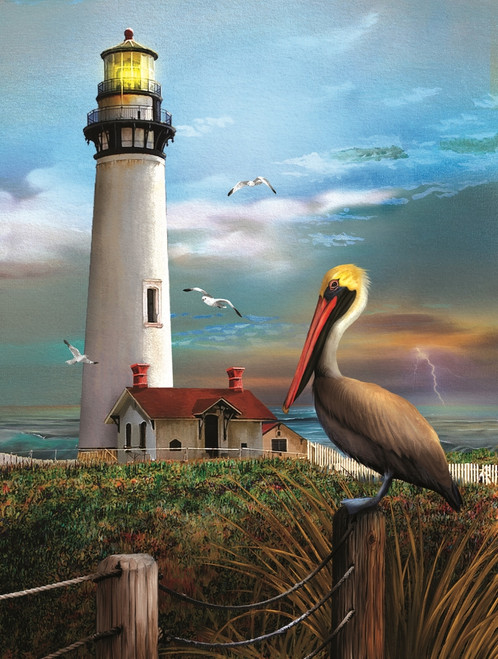 Pigeon Point Lighthouse - 500pc Jigsaw Puzzle By Sunsout