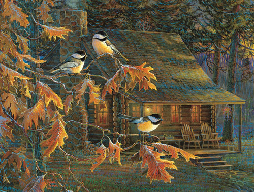 Cabin Chickadees - 500pc Jigsaw Puzzle By Sunsout
