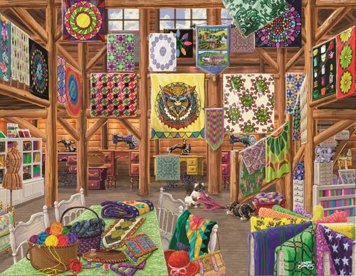 Quilted with Love - 1000+pc Jigsaw Puzzle By Sunsout