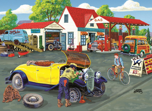 Somerset Service Station - 500+pc Jigsaw Puzzle By Sunsout