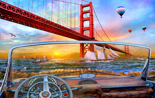 Golden Gate Adventure - 550pc Jigsaw Puzzle By Sunsout