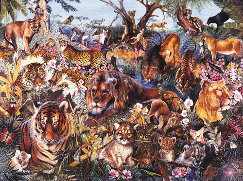 Animal Fantasia - 1000pc Jigsaw Puzzle By Sunsout