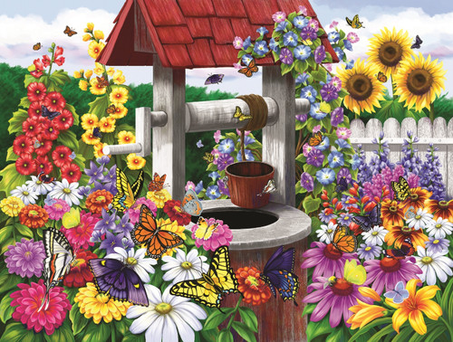 Wishing for Butterflies - 300pc Jigsaw Puzzle By Sunsout