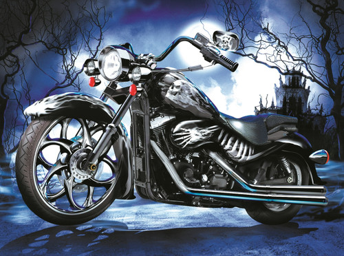 Skeleton Ride - 1000pc Jigsaw Puzzle By Sunsout