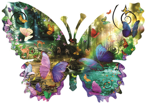 Forest Butterfly - 1000pc Jigsaw Puzzle By Sunsout