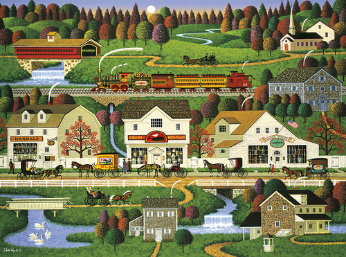 Charles Wysocki: Yankee Wink Hollow - 1000pc Jigsaw Puzzle by Buffalo Games
