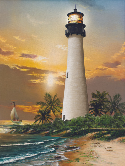 Cape Florida Lighthouse - 500pc Jigsaw Puzzle By Sunsout